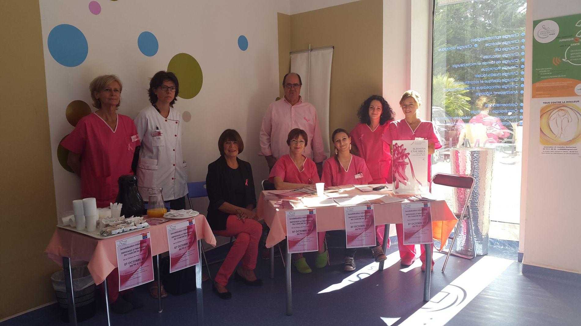 Stand d'information Cancer du sein